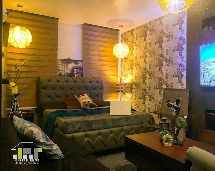 Boy's Bedroom Bachelors Pad:  Bedroom by JPS Interior Designs