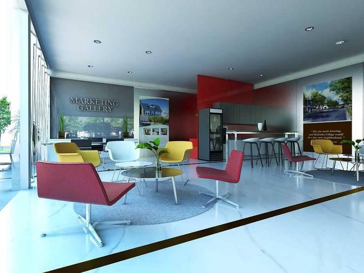Design Interior Marketing Gallery:  Ruang Komersial by Roemah Cantik