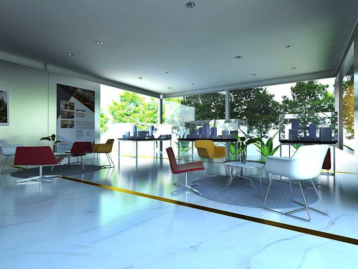 Design Interior Marketing Gallery:  Ruang Komersial by Roemah Cantik