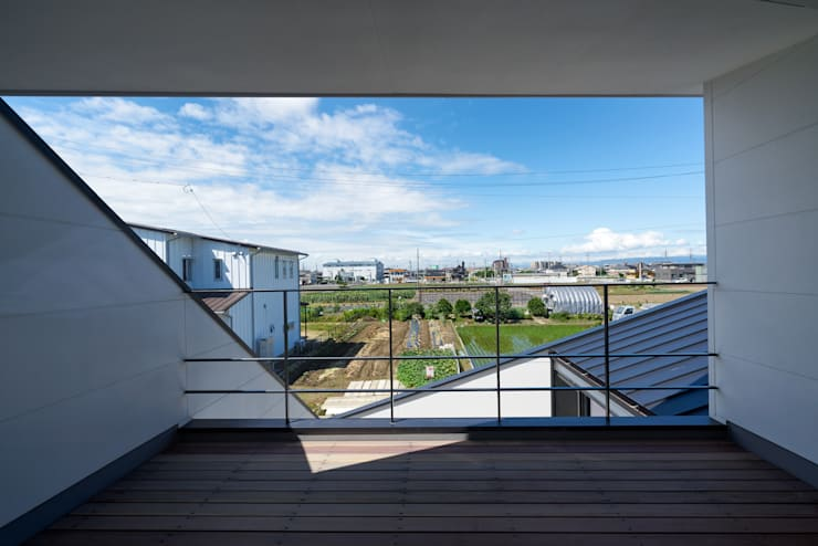 Terrasse de style  par H建築スタジオ,