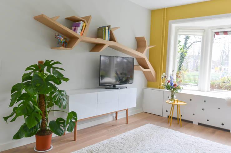 Гостиная в . Автор – Studio Binnen, Скандинавский
