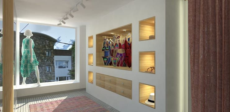 POLEN SHOP | Comercial: Espacios comerciales de estilo  por C | C INTERIOR ARCHITECTURE