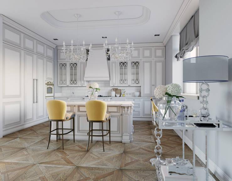 Дизайн квартиры 170 кв.м. г. Москва: Кухни в . Автор – Дизайн студия Simply House