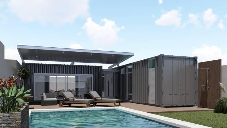 Casa Quinta Container: Casas de estilo  por ARBOL Arquitectos ,