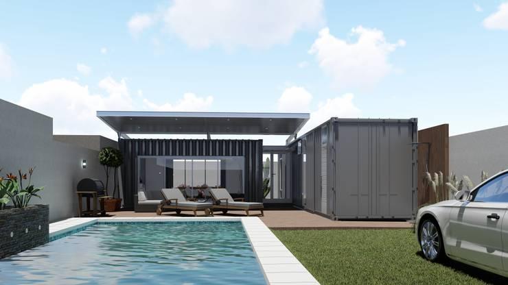 Casa Quinta Container: Piletas de estilo  por ARBOL Arquitectos ,