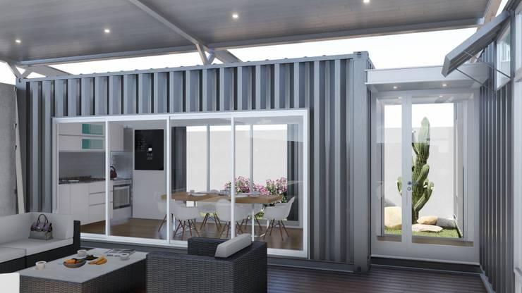 Casa Quinta Container: Livings de estilo  por ARBOL Arquitectos ,