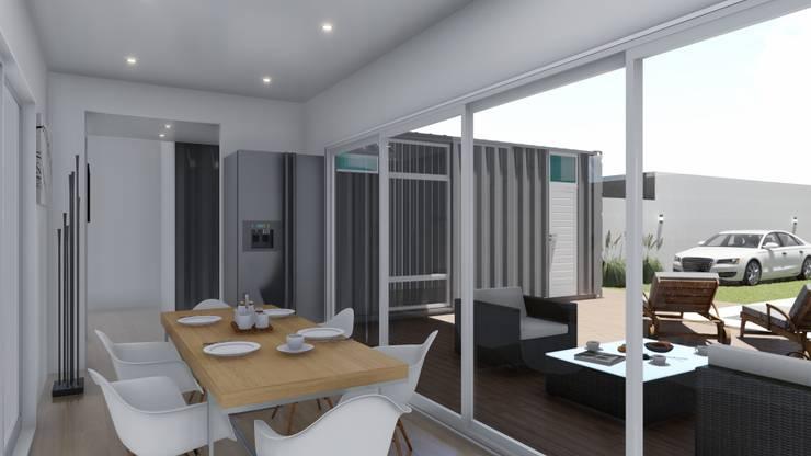 Casa Quinta Container: Comedores de estilo  por ARBOL Arquitectos ,