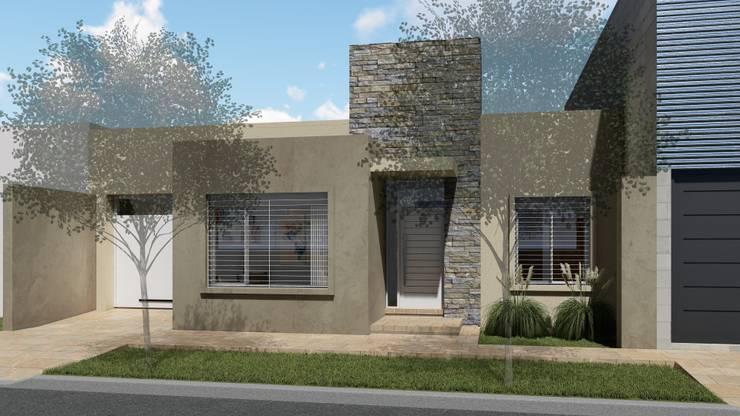 Vivienda compacta y funcional: Casas de estilo  por ARBOL Arquitectos ,Moderno