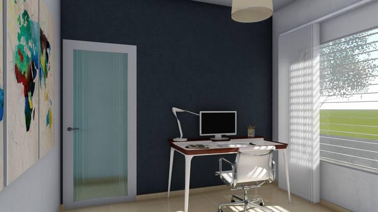 Vivienda compacta y funcional: Estudios y oficinas de estilo  por ARBOL Arquitectos ,Moderno