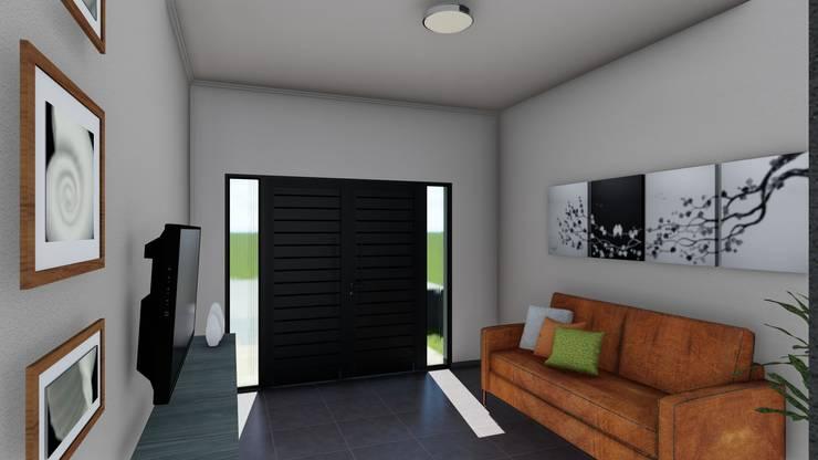 Remodelacion y ampliación Vivienda Moderna/Industrial: Livings de estilo  por ARBOL Arquitectos ,Moderno