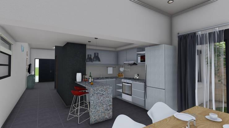 Remodelacion y ampliación Vivienda Moderna/Industrial: Cocinas de estilo  por ARBOL Arquitectos ,Moderno