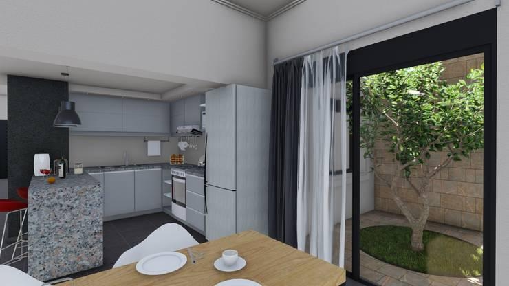 Remodelacion y ampliación Vivienda Moderna/Industrial: Comedores de estilo  por ARBOL Arquitectos ,Moderno