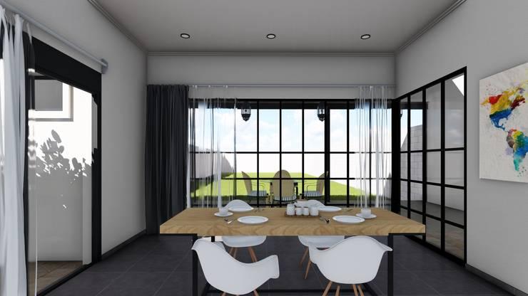 Remodelacion y ampliación Vivienda Moderna/Industrial: Comedores de estilo  por ARBOL Arquitectos ,Industrial