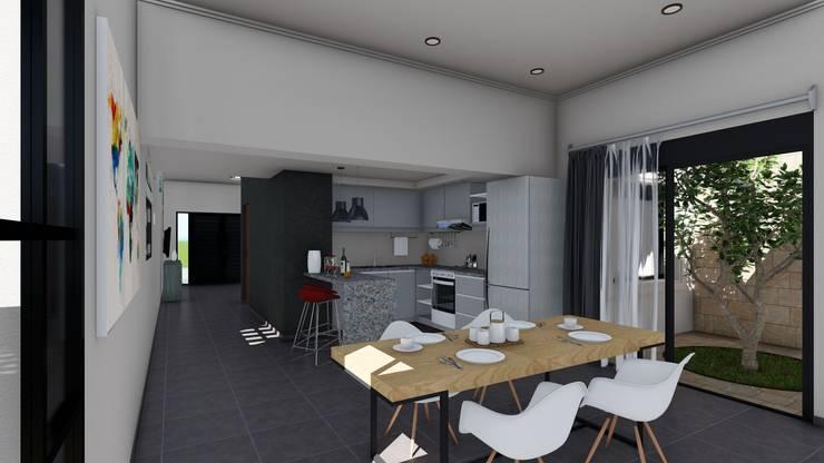 Remodelacion y ampliación Vivienda Moderna/Industrial: Comedores de estilo  por ARBOL Arquitectos ,Escandinavo
