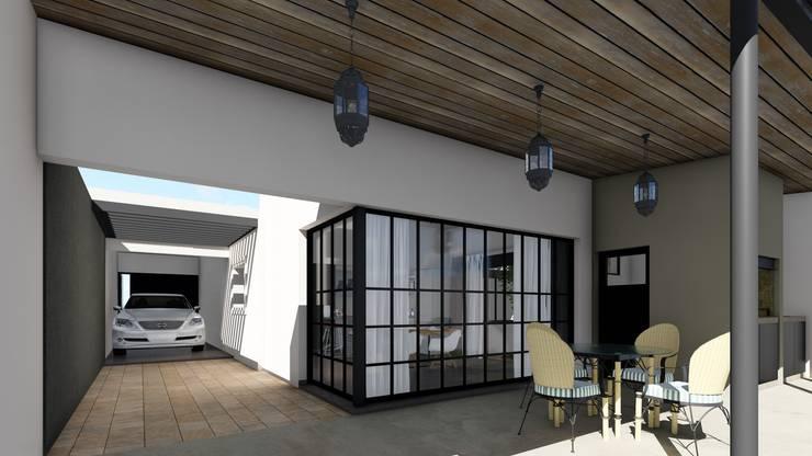Remodelacion y ampliación Vivienda Moderna/Industrial: Jardines de invierno de estilo  por ARBOL Arquitectos ,Industrial