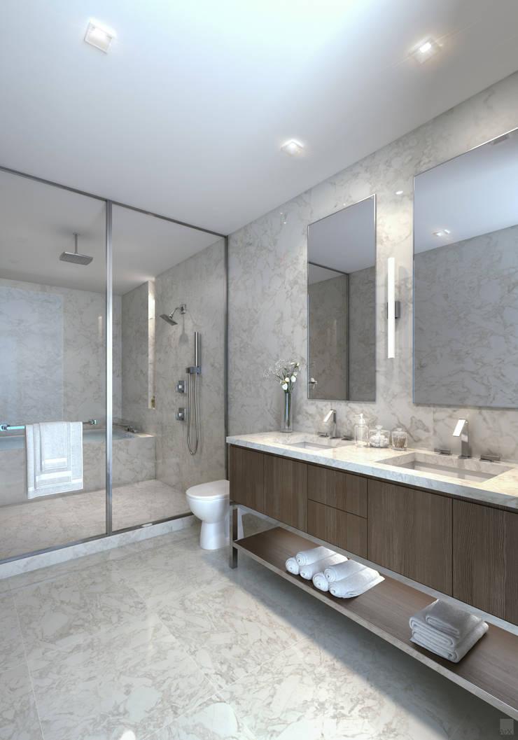 EDEN RESIDENCES: Baños de estilo  por C | C INTERIOR ARCHITECTURE