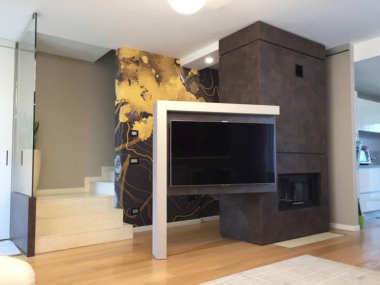 10 idee moderne per inserire la televisione in soggiorno for Pareti tv moderne