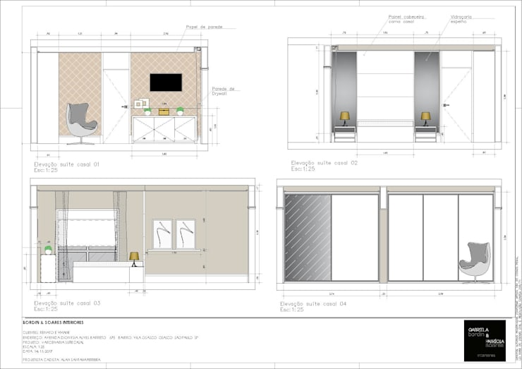 Dressing moderne par A S Studio Criativo 3D - Soluções Inteligentes em projetos técnicos Moderne