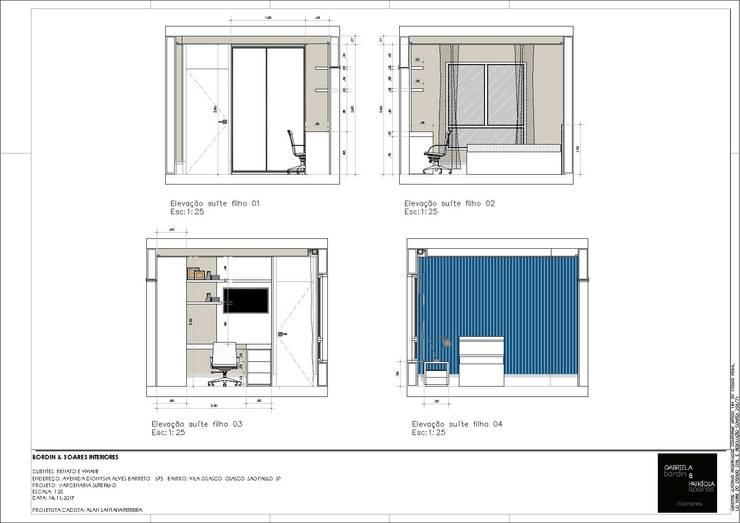 Chambre moderne par A S Studio Criativo 3D - Soluções Inteligentes em projetos técnicos Moderne