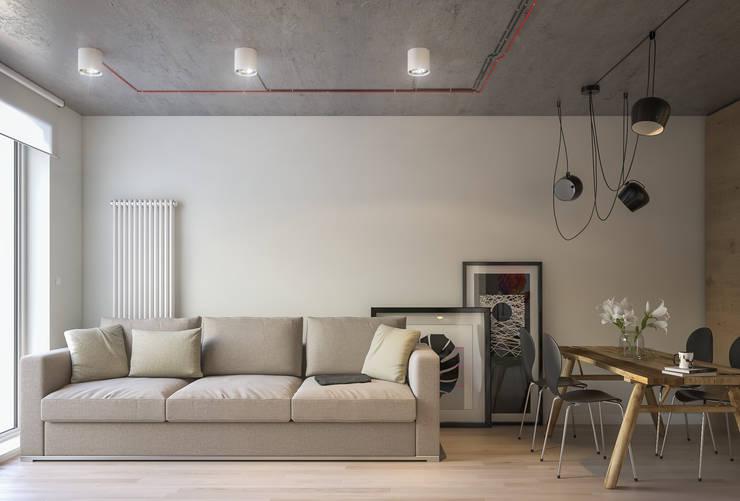 غرفة المعيشة تنفيذ Santoro Design Render
