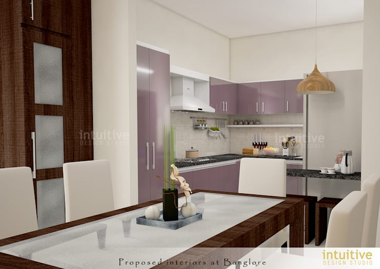 View of the Kitchen:  Kitchen by INTUITIVE DESIGN STUDIO