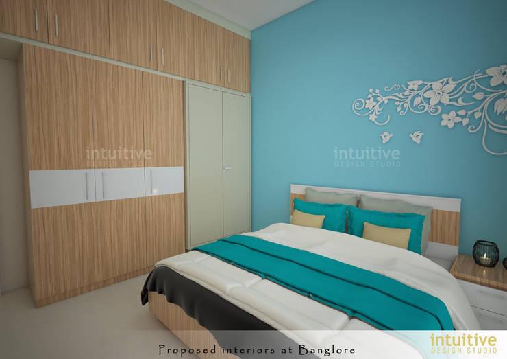 Bedroom view:  Bedroom by INTUITIVE DESIGN STUDIO