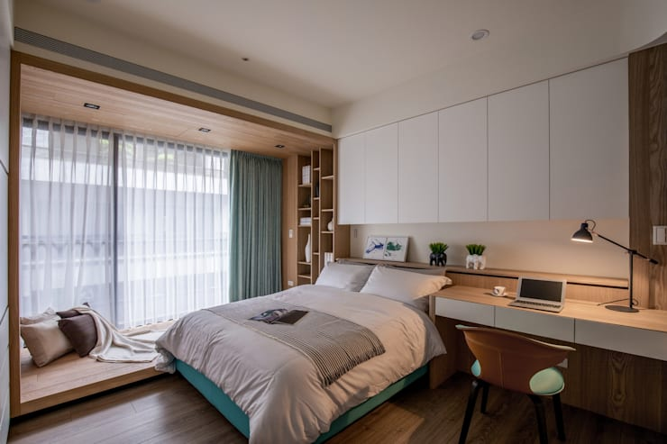 Bedroom by 築青室內裝修有限公司