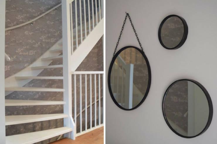 Trappenhuis:  Gang, hal & trappenhuis door Atelier09