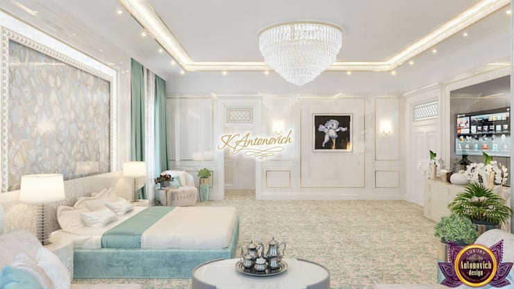 ​Interior design house ideas by Katrina Antonovich: modern Bedroom by Luxury Antonovich Design