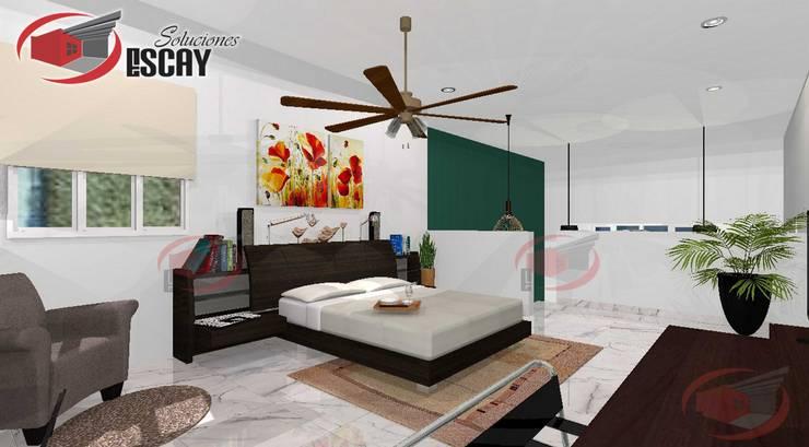 Recámara Casa Chichí 3: Recámaras de estilo  por Escay Soluciones