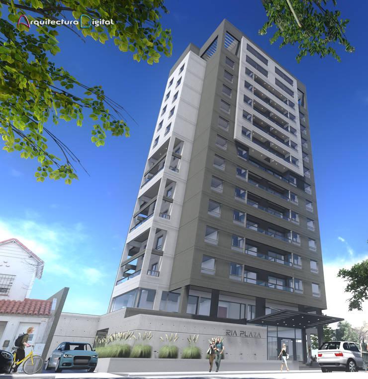 Proyecto Ria Plaza: Casas de estilo  por Arquitectura Digital Renderizados,