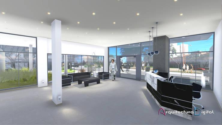 Hall de Acceso Edificio RiaPlaza:  de estilo  por Arquitectura Digital Renderizados,