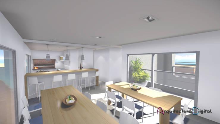 SUM Edificio DeSolaSol:  de estilo  por Arquitectura Digital Renderizados,Moderno