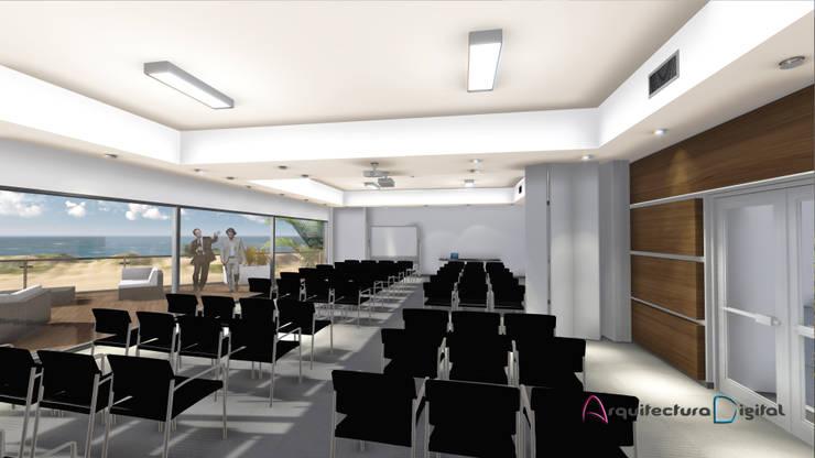 Vista Amenities - Sala de Conferencias Hotel Playa del Este:  de estilo  por Arquitectura Digital Renderizados,Moderno