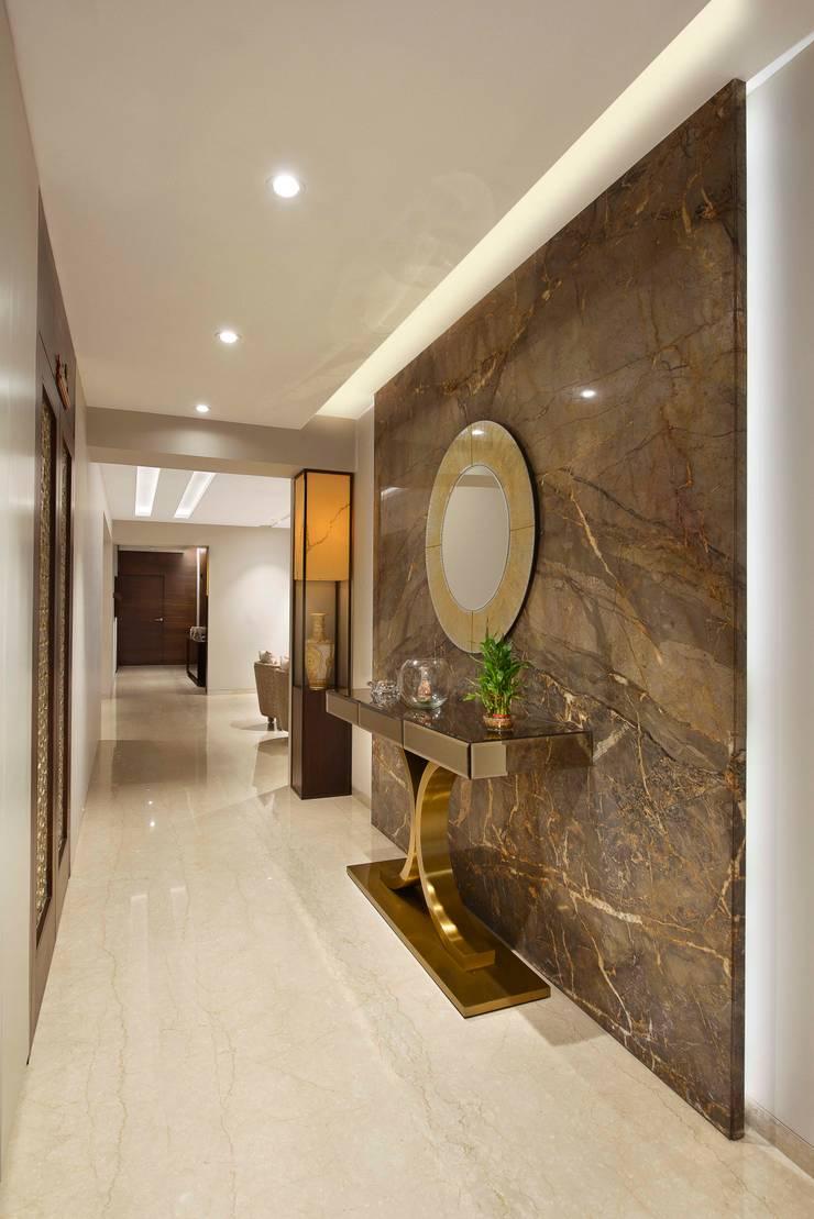 The Warm Bliss:  Corridor & hallway by Ar. Milind Pai,Modern Marble