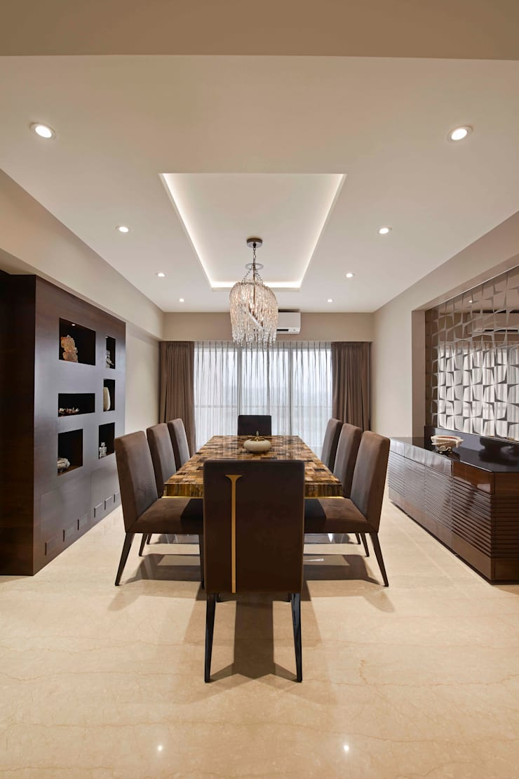 4BHK APARTMENT AT BKC: minimalistic Dining room by Ar. Milind Pai
