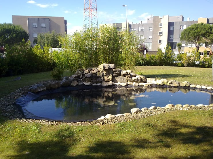 Lago Pedrouços: Lagoas de jardins  por Viveiros da Boa Nova, Lda