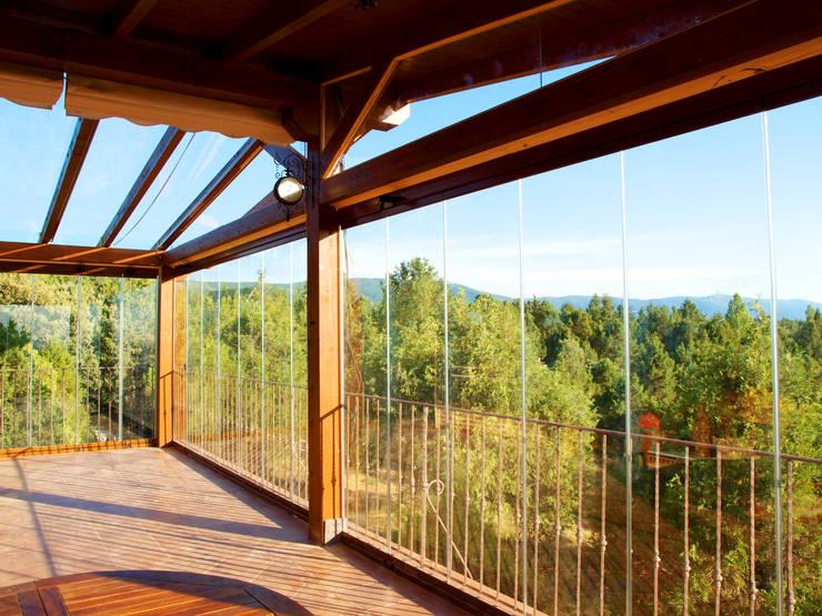 Fabulous chiusure per balconi in vetro terrazza in stile di new time srl with balconi in vetro - Quanto costa una finestra in alluminio ...