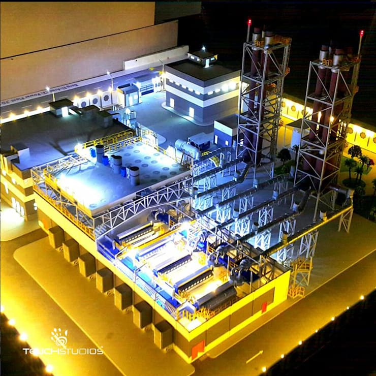 مجسم معماري لمحطة توليد كهرباء:   تنفيذ Touch-studios,