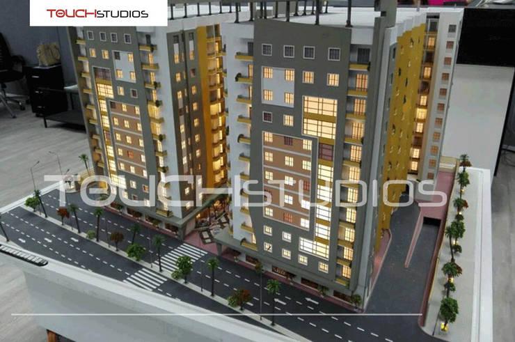 ماكيت لعمارات سكنية بالقاهرة:   تنفيذ Touch-studios