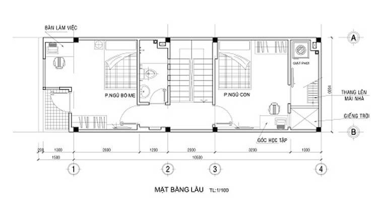 Phương án bố trí các phòng chức năng:  Nhà gia đình by Công ty TNHH Xây Dựng TM – DV Song Phát