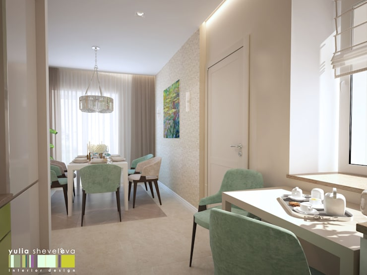 Eclectic style dining room by Мастерская интерьера Юлии Шевелевой Eclectic