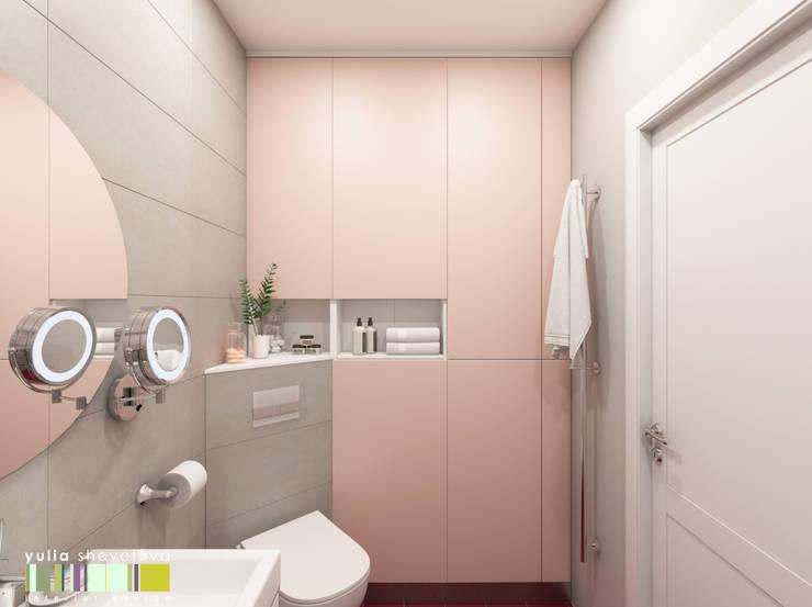 Хрусталь и глянец: Ванные комнаты в . Автор – Мастерская интерьера Юлии Шевелевой