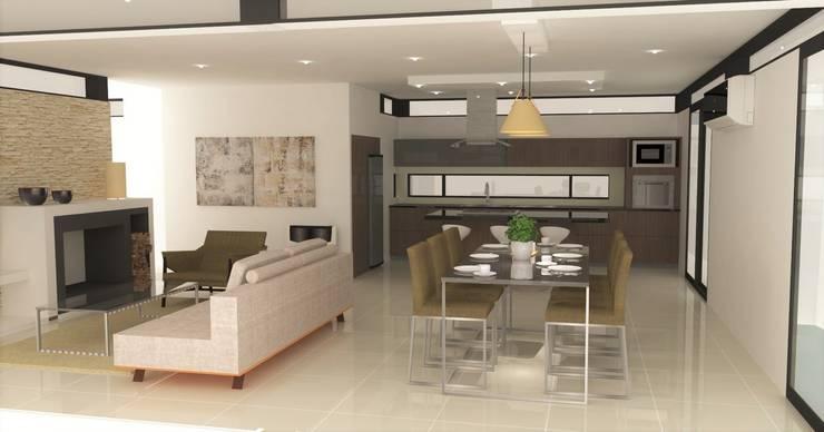 Opción de muebles para el comedor: Comedores de estilo  por NA ARQUITECTURA