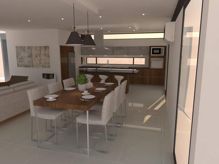 Opción muebles para comedor: Comedores de estilo  por NA ARQUITECTURA