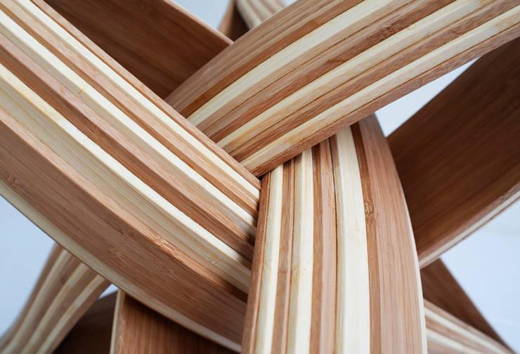 """lock coffee""  bamboo coffee table : modern  door J A NP A U L , Modern Bamboe Groen"