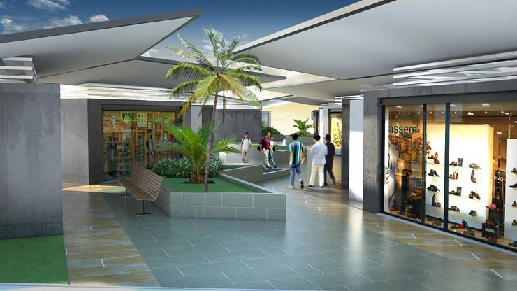 POPAYAN MALL: Centros comerciales de estilo  por JUAN CASTRO ARQUITECTO