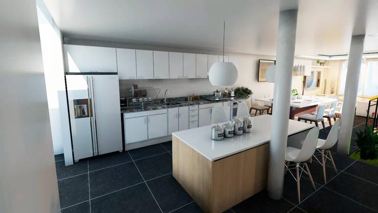 CASA COUNTRY II: Casas unifamiliares de estilo  por CAMark projects, Moderno Concreto
