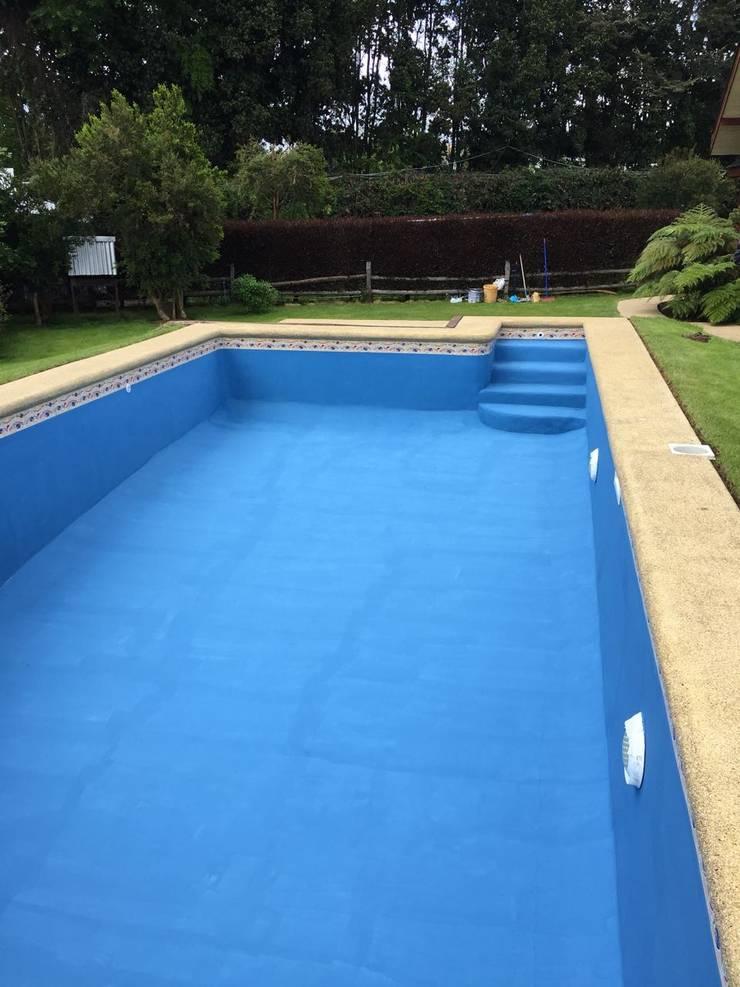 Piscina Puyehue 8x4:  de estilo  por Construccion piscinas Reyal osorno