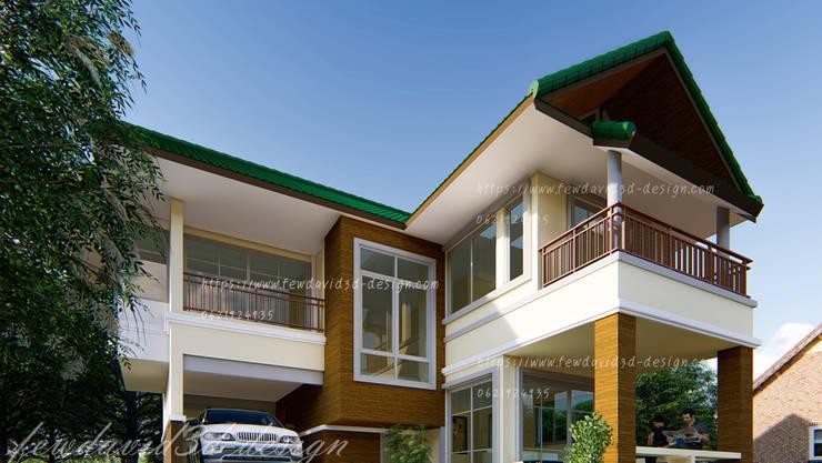 แบบบ้าน 3ห้องนอน 2ห้องน้ำ 162 ตร.ม:   by fewdavid3d-design